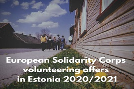 European Solidarity Corps volunteering in Estonia 2020 2021